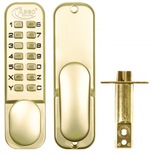 ASEC AS2300 Series Digital Lock With Optional Holdback Brass